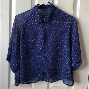 Blue top with pattern